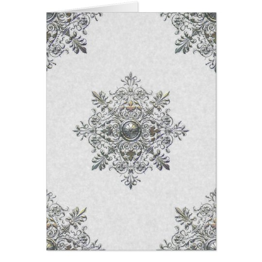 Silver Snowflake Thank You Note Card