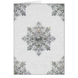 Silver Snowflake Thank You Note Cards