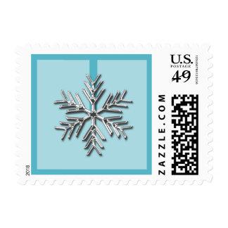 Silver Snowflake USPS Christmas Postage Stamp 2014