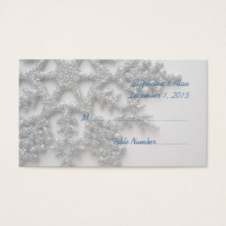 Silver Snowflake Wedding Place Cards