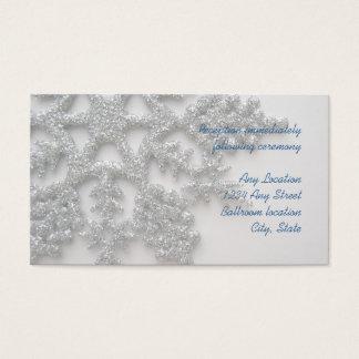 Silver Snowflake Wedding Reception Card