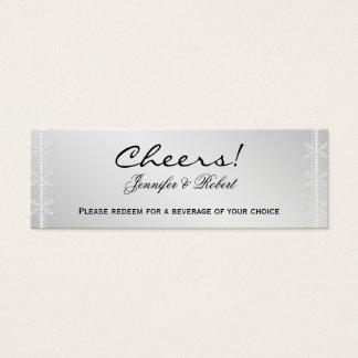 Silver Snowflake Winter Wedding Drink Tickets