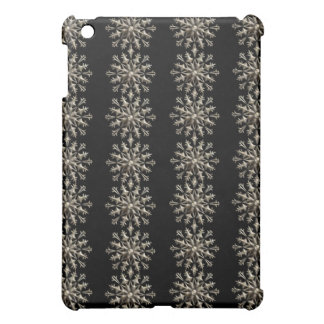 Silver Snowflakes Black Gothic iPad case