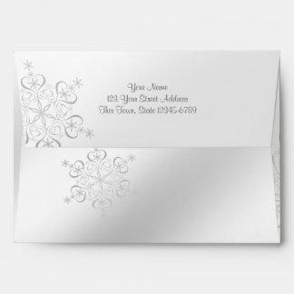 Silver Snowflakes Envelope