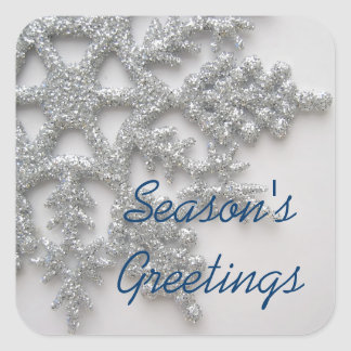 Silver Snowflakes Holiday Stickers