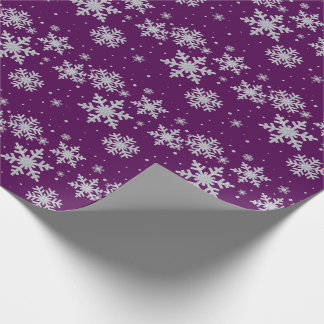 Silver Snowflakes Holiday Wrapping Paper