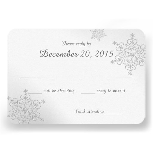 Silver Snowflakes Response Card