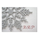 Silver Snowflakes RSVP Card