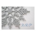 Silver Snowflakes RSVP Card Invite