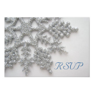 Silver Snowflakes RSVP Card Invite