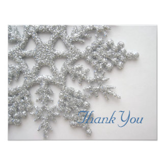 Silver Snowflakes Thank You Card