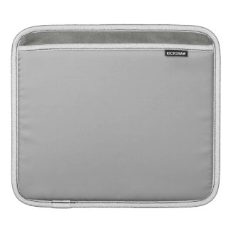 Silver Solid Color iPad Sleeves