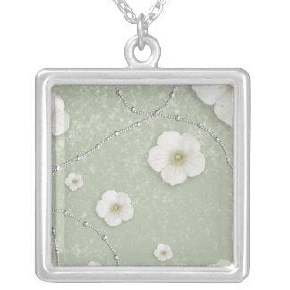 Silver Spa Square Necklace