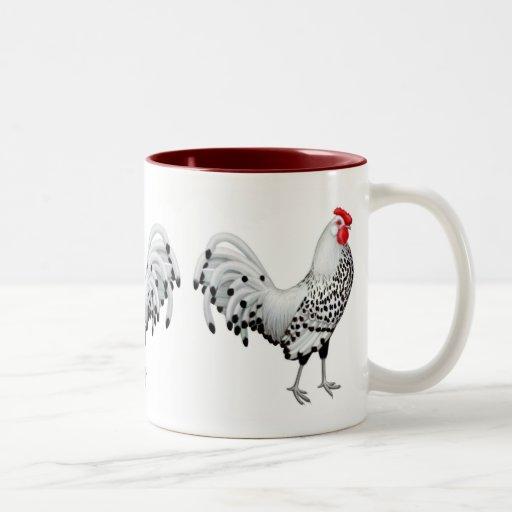 Silver Spangled Hamburg Rooster Mug
