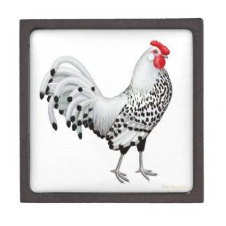 Silver Spangled Hamburg Rooster Premium Gift Box