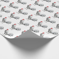 Silver Spangled Hamburg Rooster Wrapping Paper