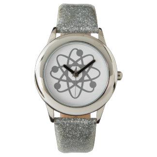 Silver Sparkle Atom Wrist Watch