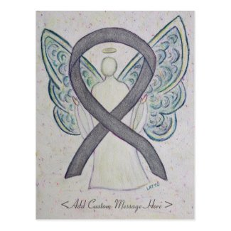 Silver Sparkle Awareness Ribbon Angel Postcard