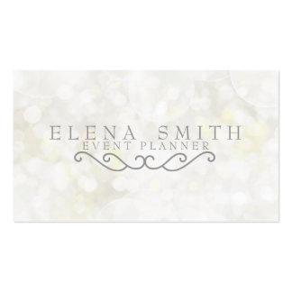 Silver Sparkle Bokeh Business Card