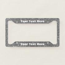Silver Sparkle Custom Message License Plate License Plate Frame