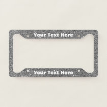 Silver Sparkle Custom Message License Plate License Plate Frame