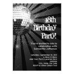 Silver Sparkle Disco Ball 18th Birthday Party Personalized Invites