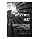 Silver Sparkle Disco Ball Bachelorette Party Card
