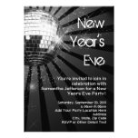 Silver Sparkle Disco Ball New Year's Eve Party Invite