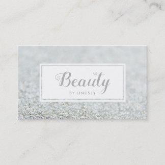 Silver Sparkle Glitter Beauty Make Up Artist Business Card