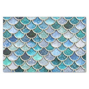 Beach Themed Silver Sparkle Glitter Mermaid Scales Tissue Paper
