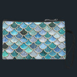 "Silver Sparkle Glitter Mermaid Scales Wristlet Wallet<br><div class=""desc"">Wonderful silver and blue mermaid scales. This pattern I created with more than 130 different glitter layers  of glitter textures and sparkling metal foils. This design looks so pretty in your Home. Designed with LOVE by UtART</div>"