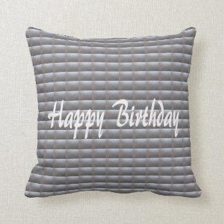 Silver Sparkle Leather Look Throw Pillow Pillows