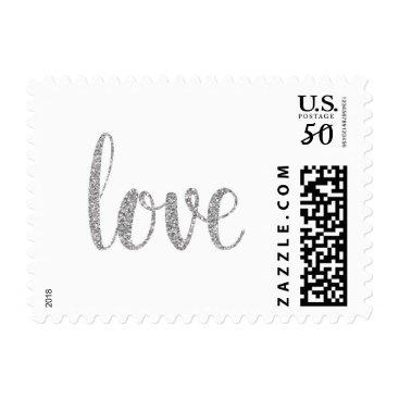 AtlanticArtistry Silver sparkle love stamps