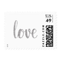 Silver sparkle love stamps