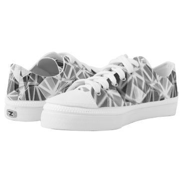 Beach Themed Silver Sparkle Low-Top Sneakers