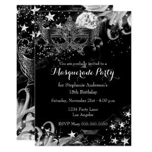 masquerade invitations zazzle