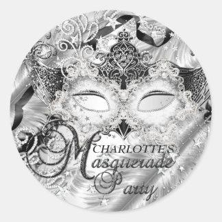 Silver Sparkle Mask Masquerade Sticker