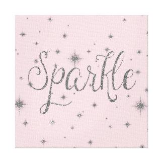 Silver Sparkles Canvas Print