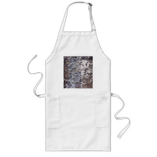 Silver Sparkling Sequin Look Aprons