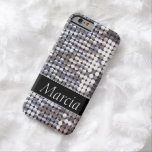Silver Sparkling Sequin Look Barely There iPhone 6 Case