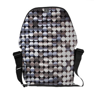 Silver Sparkling Sequin Look Courier Bag