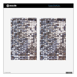 Silver Sparkling Sequin Look Skin For Kindle Fire
