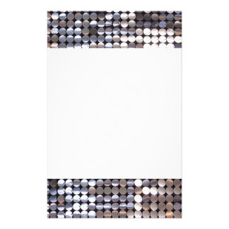 Silver Sparkling Sequin Look Stationery