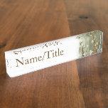 """Silver Spheres"" Desk Name Plate"