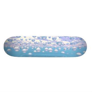 Silver Spheres - Retro Skateboard Deck