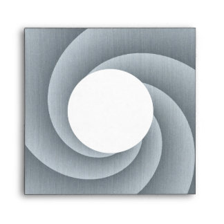 Silver Spiral in brushed metal texture Envelope