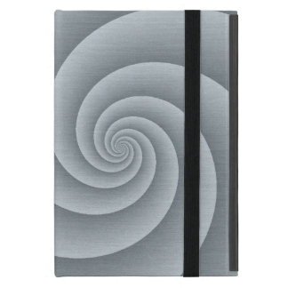 Silver Spiral in brushed metal texture Case For iPad Mini