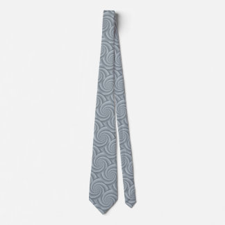 Silver Spiral in brushed metal texture Tie