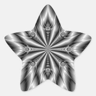 Silver Spokes Star Sticker