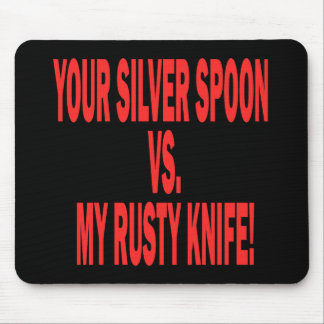 Silver Spoon Mouse Pad